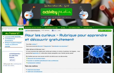 http://www.activitypedia.org/tiki-index.php?page=Apprendre