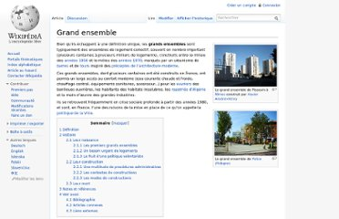 http://fr.wikipedia.org/wiki/Grand_ensemble#Les_premiers_grands_ensembles