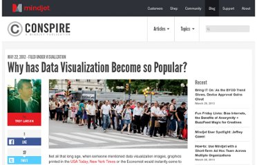 http://blog.mindjet.com/2012/05/why-has-data-visualization-become-so-popular/