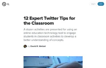 http://suite101.com/article/12-expert-twitter-tips-for-the-classroom-a139534#ixzz0Q2FSzBVr