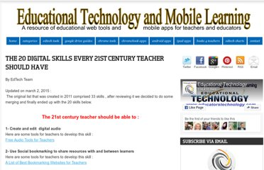 http://www.educatorstechnology.com/2012/06/33-digital-skills-every-21st-century.html