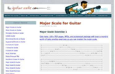 http://www.theguitarsuite.com/major-scale-for-guitar/