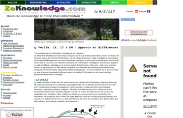 http://www.zeknowledge.com/veille_intelligence_km.htm