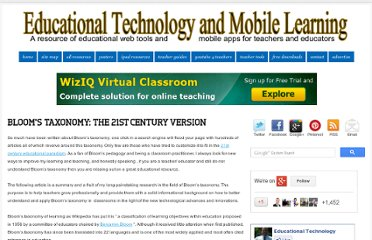 http://www.educatorstechnology.com/2011/09/blooms-taxonomy-21st-century-version.html