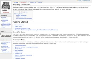http://commons.oreilly.com/wiki/index.php/O%27Reilly_Commons