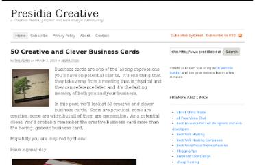 http://www.presidiacreative.com/50-creative-and-clever-business-cards/