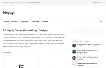 http://bluefaqs.com/2010/04/60-highly-clever-minimal-logo-designs/