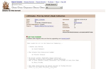 http://thepiratebay.se/torrent/4846125/__Ultimate___Pick_Up_Artist_s_Book_Collection