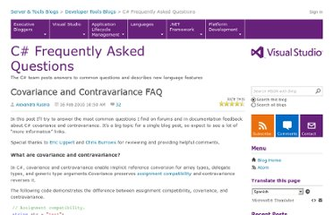http://blogs.msdn.com/b/csharpfaq/archive/2010/02/16/covariance-and-contravariance-faq.aspx?Redirected=true