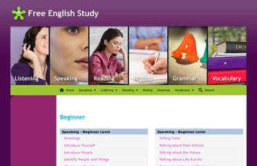 http://free-english-study.com/speaking/speaking-beginner-level.html