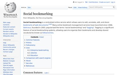 http://en.wikipedia.org/wiki/Social_bookmarking