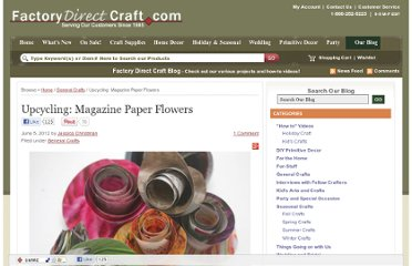 http://factorydirectcraft.com/factorydirectcraft_blog/upcycling-magazine-paper-flowers/