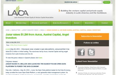 http://lavca.org/2012/05/29/junar-raises-1-2m-from-aurus-austral-capital-angel-investors-2/