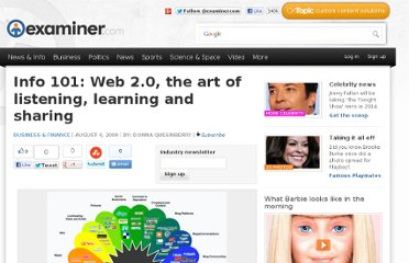 http://www.examiner.com/article/info-101-web-2-0-the-art-of-listening-learning-and-sharing