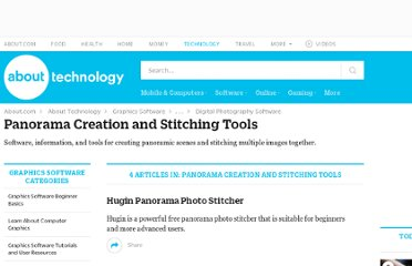 http://graphicssoft.about.com/od/panorama/Panorama_Creation_and_Stitching_Tools.htm