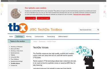 http://www.jisctechdis.ac.uk/tbx/techdis-voices