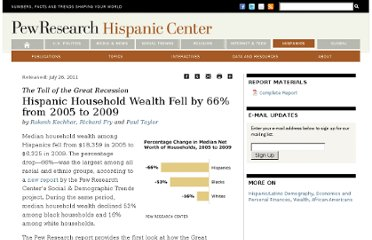 http://www.pewhispanic.org/2011/07/26/the-toll-of-the-great-recession/