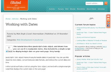 http://www.elated.com/articles/working-with-dates/