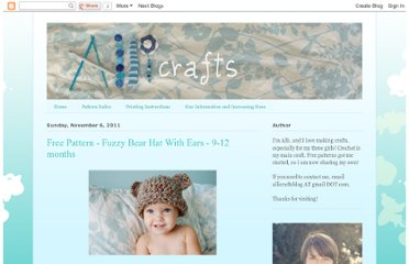 http://allicrafts.blogspot.com/2011/11/free-pattern-fuzzy-bear-hat-with-ears-9.html