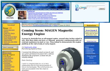 http://pesn.com/2012/06/10/9602106_Coming_Soon--MAGEN_magnetic_energy_engine/