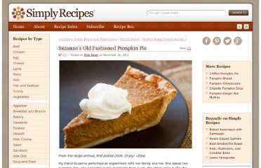 http://www.simplyrecipes.com/recipes/suzannes_old_fashioned_pumpkin_pie/