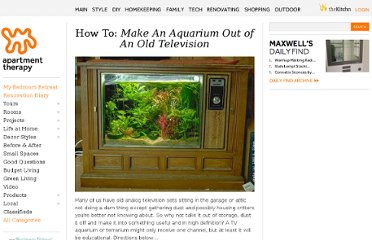 http://www.apartmenttherapy.com/how-to-make-an-aquarium-out-of-76505