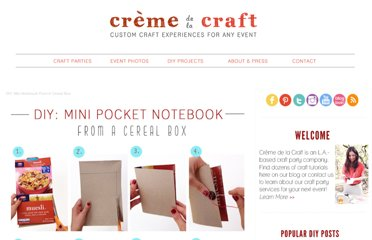 http://www.cremedelacraft.com/2012/06/diy-mini-notebook-from-cereal-box.html