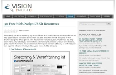 http://visionwidget.com/free-web-design-ui-kit-resources.html