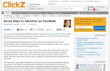 http://www.clickz.com/clickz/column/1716436/seven-ways-advertise-facebook