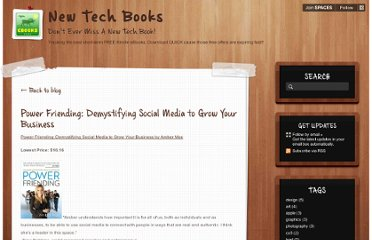 http://newtechbooks.posterous.com/power-friending-demystifying-social-media-to