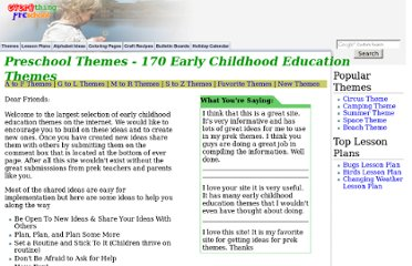 http://www.everythingpreschool.com/themes/index.htm
