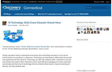 http://blog.discoveryeducation.com/blog/2012/06/13/10-technology-skills-every-educator-should-have/