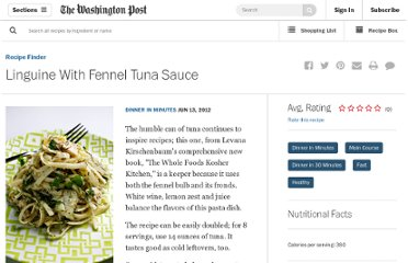 http://projects.washingtonpost.com/recipes/2012/06/13/linguine-fennel-tuna-sauce/