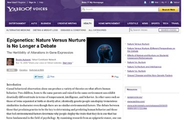 http://voices.yahoo.com/epigenetics-nature-versus-nurture-no-longer-debate-4903192.html