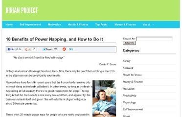 http://ririanproject.com/2007/09/05/10-benefits-of-power-napping-and-how-to-do-it/