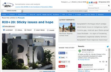 http://www.irinnews.org/Report/95646/RIO-20-Sticky-issues-and-hope