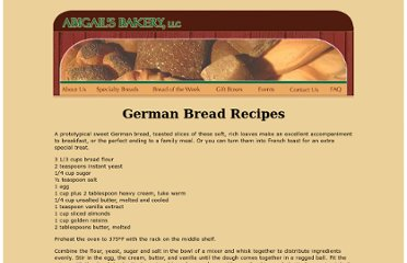 http://www.abigailsbakery.com/bread-recipes/german-bread-recipes.htm