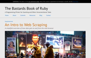 http://ruby.bastardsbook.com/chapters/web-scraping/