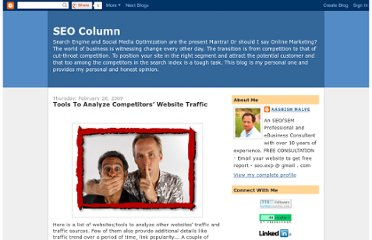http://seocolumn.blogspot.com/2009/02/tools-to-analyze-competitors-website.html