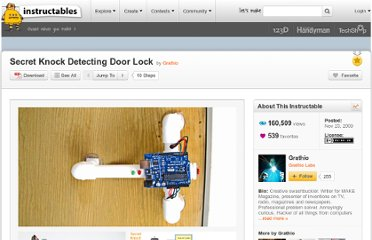 http://www.instructables.com/id/Secret-Knock-Detecting-Door-Lock/