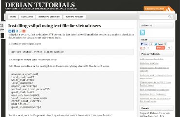 http://www.debiantutorials.com/installing-vsftpd-using-text-file-for-virtual-users/