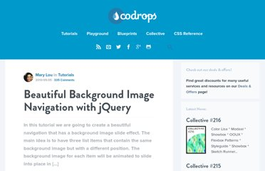 http://tympanus.net/codrops/2010/05/05/beautiful-background-image-navigation-with-jquery/