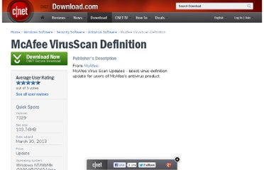 http://download.cnet.com/McAfee-VirusScan-Definition/3000-2239_4-12294.html