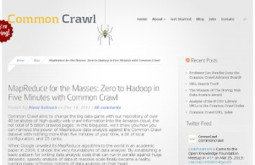 http://commoncrawl.org/mapreduce-for-the-masses/