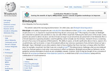 http://en.wikipedia.org/wiki/Blindsight