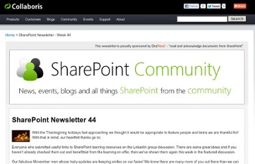 http://www.collaboris.com/sharepoint-newsletters/sharepoint-newsletter-44