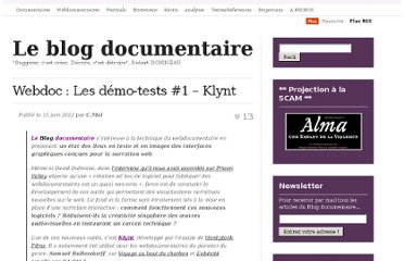 http://cinemadocumentaire.wordpress.com/2012/06/15/webdoc-les-demo-tests-1-klynt/