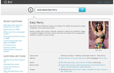 http://www.evi.com/q/facts_about__katy_perry