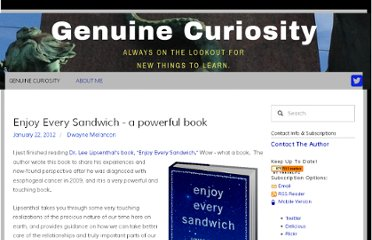 http://genuinecuriosity.com/genuinecuriosity/2012/1/22/enjoy-every-sandwich-a-powerful-book.html