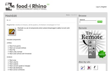 http://www.food4rhino.com/project/meshedittools